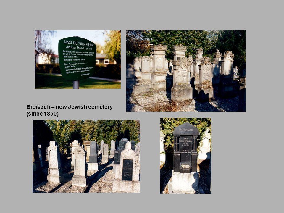 Breisach – new Jewish cemetery (since 1850)