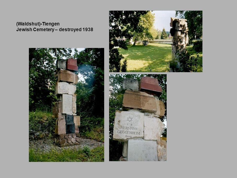 (Waldshut)-Tiengen Jewish Cemetery – destroyed 1938