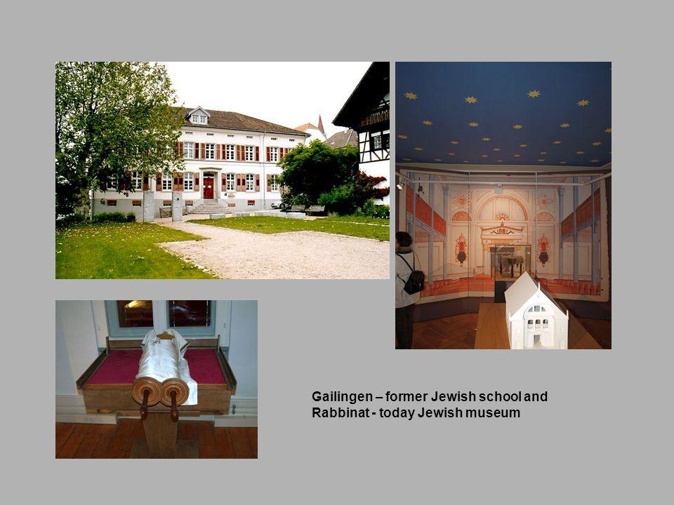 Gailingen – former Jewish school and Rabbinat - today Jewish museum