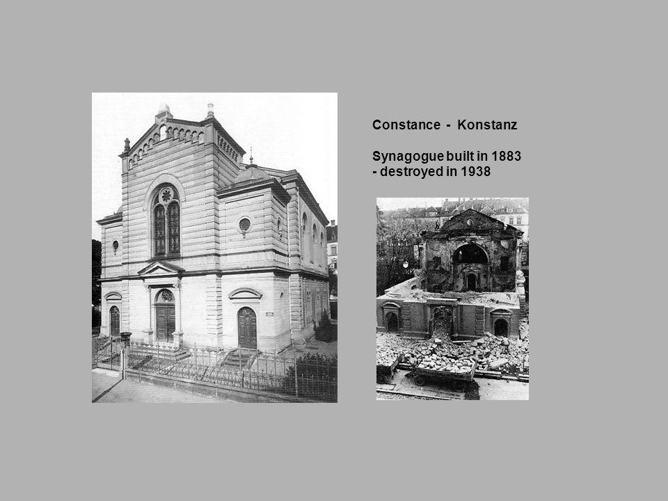Constance - Konstanz Synagogue built in 1883 - destroyed in 1938