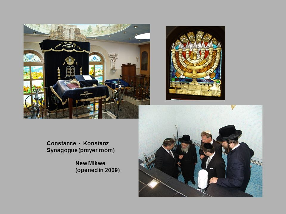 Constance - Konstanz Synagogue (prayer room) New Mikwe (opened in 2009)
