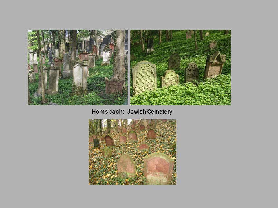 Hemsbach : Jewish Cemetery