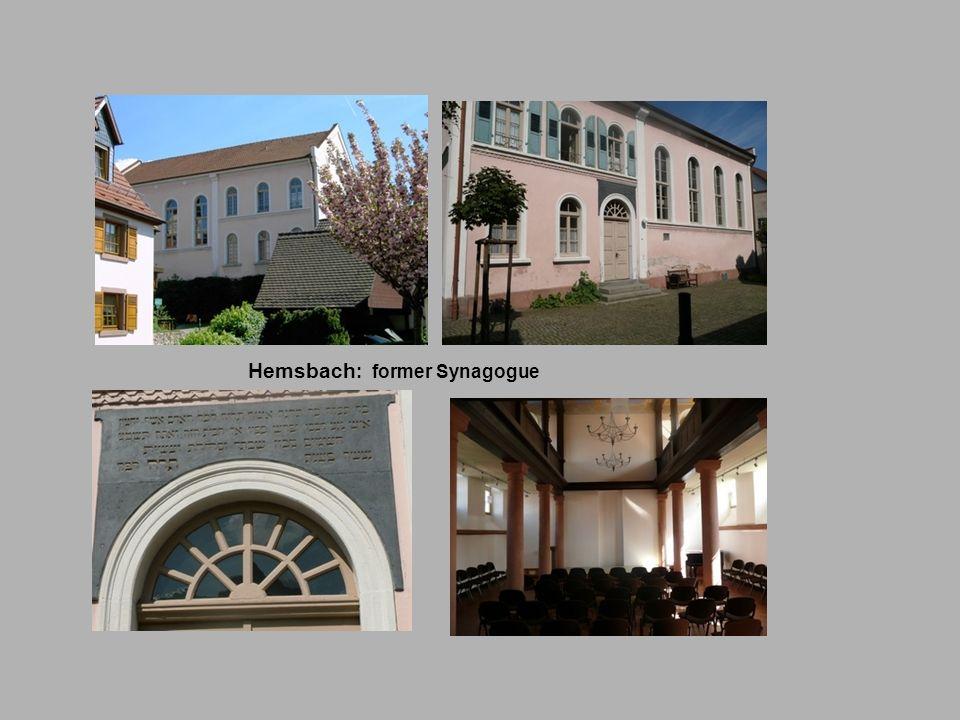 Hemsbach : former Synagogue