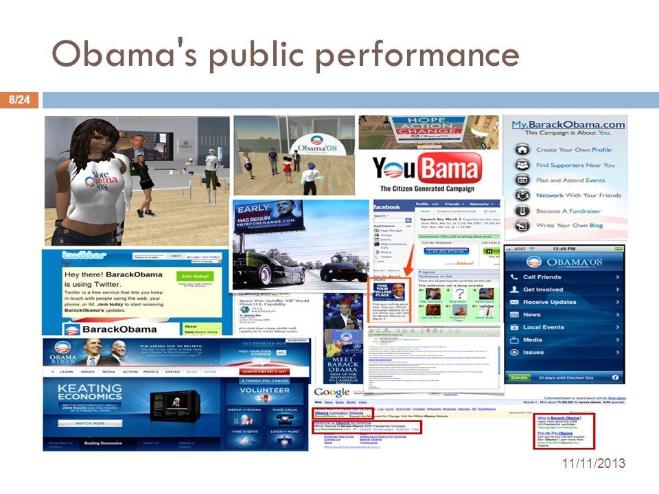 Obama's public performance 11/11/2013 8/24