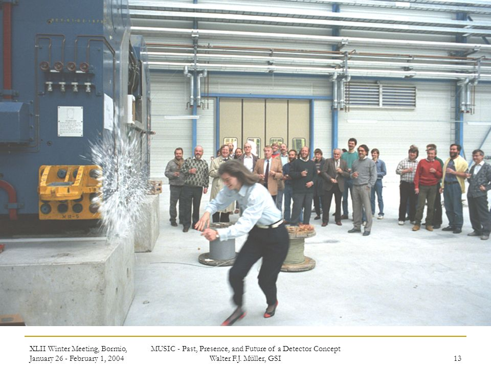XLII Winter Meeting, Bormio, January 26 - February 1, 2004 MUSIC - Past, Presence, and Future of a Detector Concept Walter F.J.