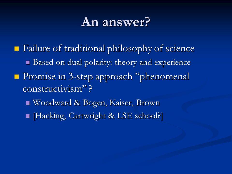 An answer.