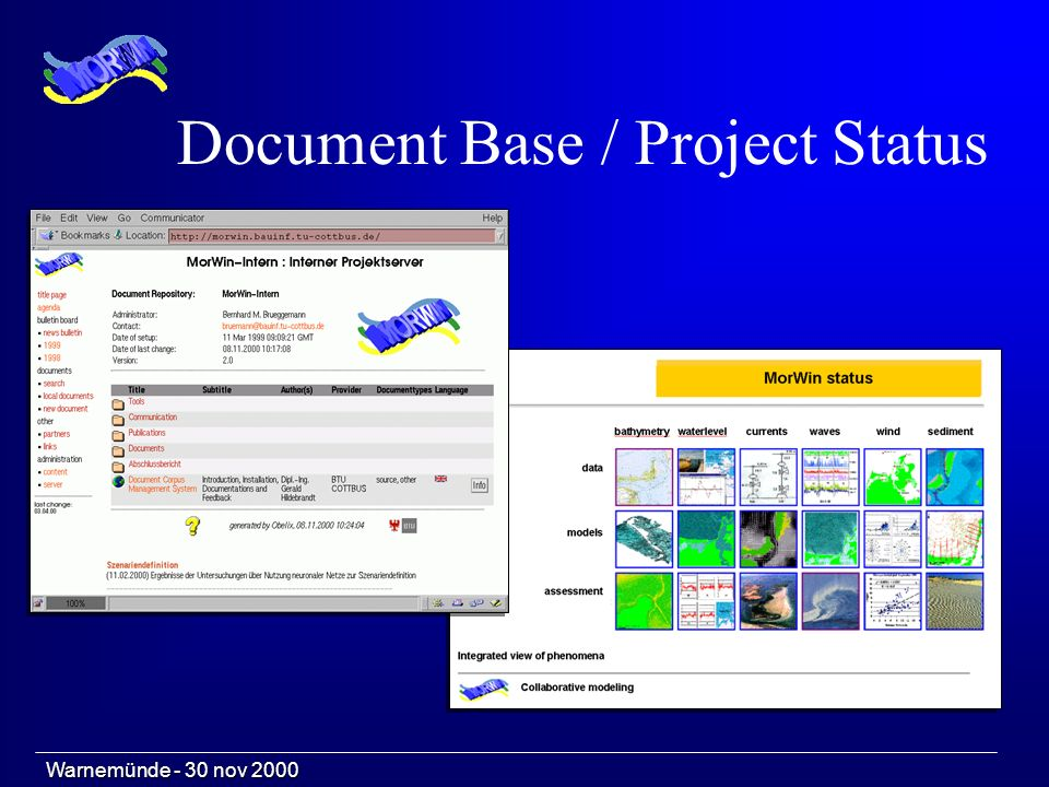 Document Base / Project Status