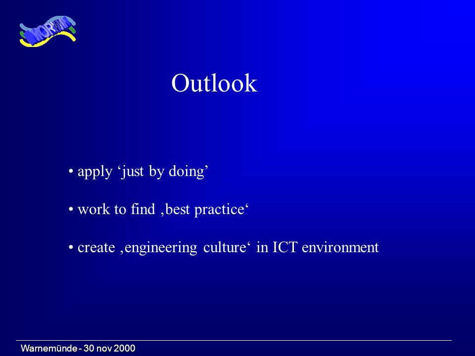 apply just by doing work to find best practice create engineering culture in ICT environment Outlook