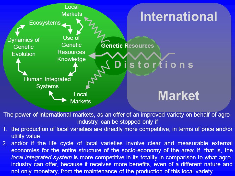 1.the production of local varieties are directly more competitive, in terms of price and/or utility value 2.and/or if the life cycle of local varietie