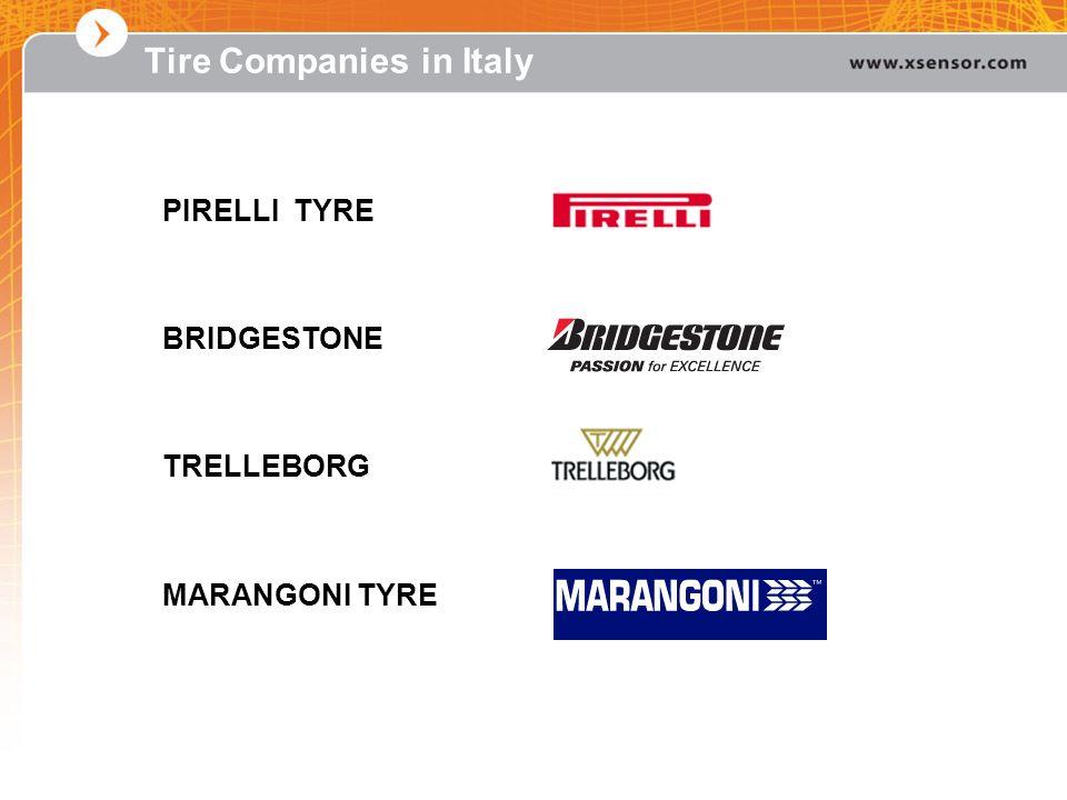 Tire Companies in Italy PIRELLI TYRE BRIDGESTONE TRELLEBORG MARANGONI TYRE