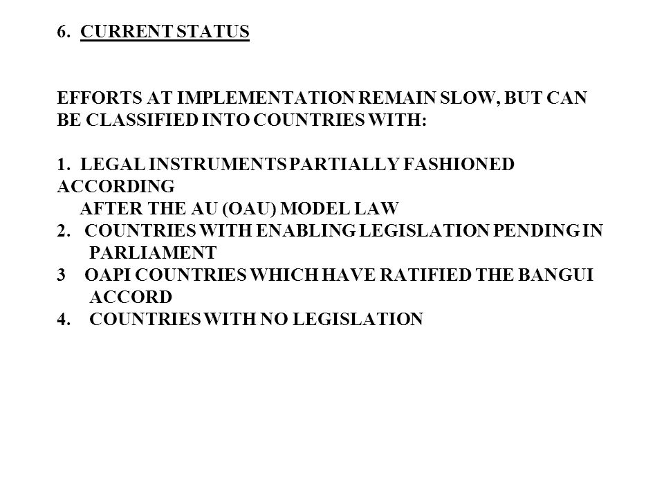 7.MAJOR PROBLEMS WITH IMPLEMENTATIONOF THE LAW; 1.