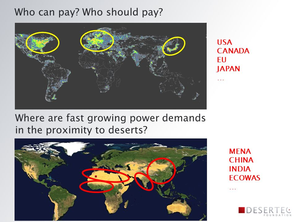 MENA CHINA INDIA ECOWAS … Who can pay. Who should pay.