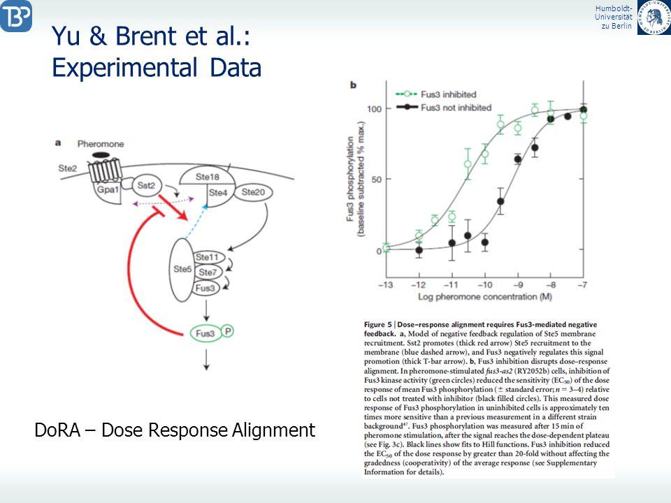 Humboldt- Universität zu Berlin Yu & Brent et al.: Experimental Data DoRA – Dose Response Alignment