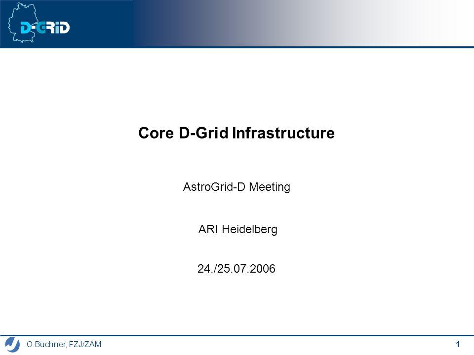 O.Büchner, FZJ/ZAM 1 Core D-Grid Infrastructure AstroGrid-D Meeting 24./25.07.2006 ARI Heidelberg