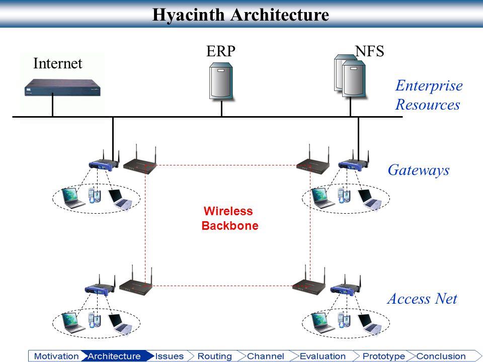 Access Net Internet NFSERP Enterprise Resources Hyacinth Architecture Gateways Wireless Backbone