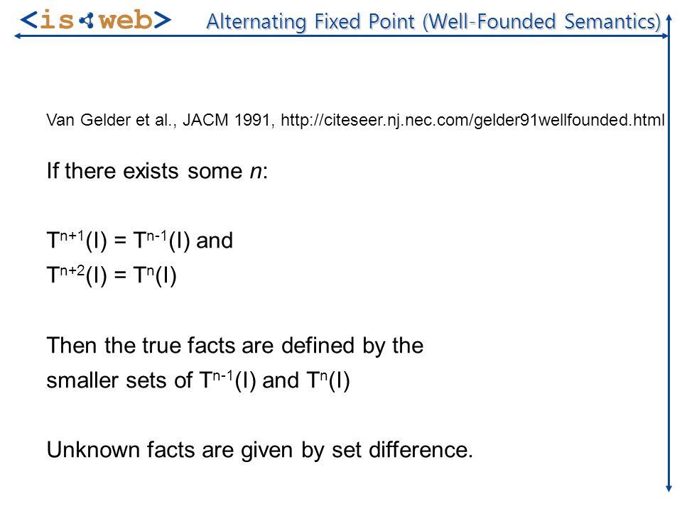 ISWeb - Information Systems & Semantic Web Steffen Staab staab@uni-koblenz.de Foundations of Logic Programming 19 of 32 Parametrised Attributes Schmidt:Student[ studiesAt(UKoLd)->>Computer Science; studiesAt(FernUHagen)->>Philosophy ].