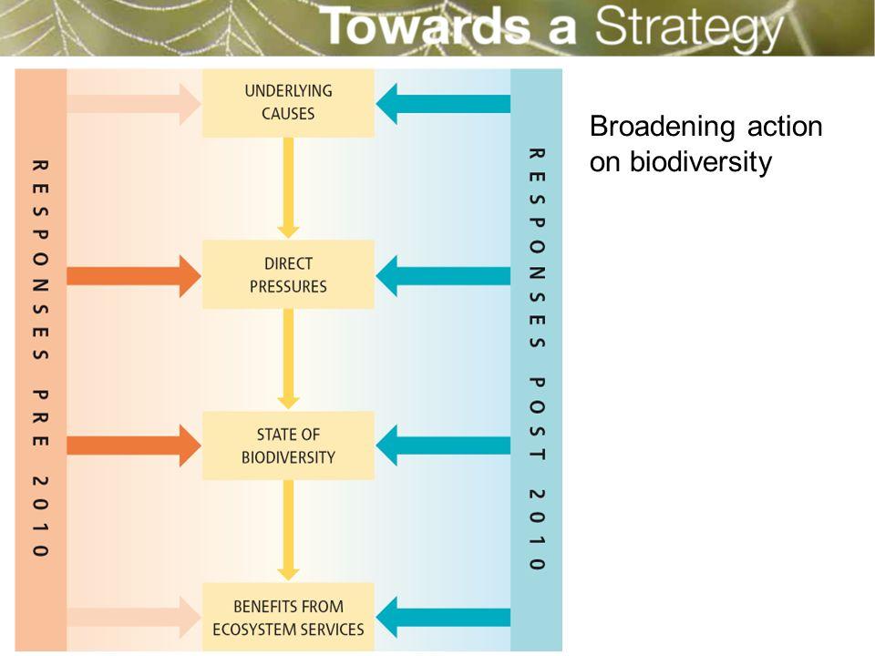 Broadening action on biodiversity