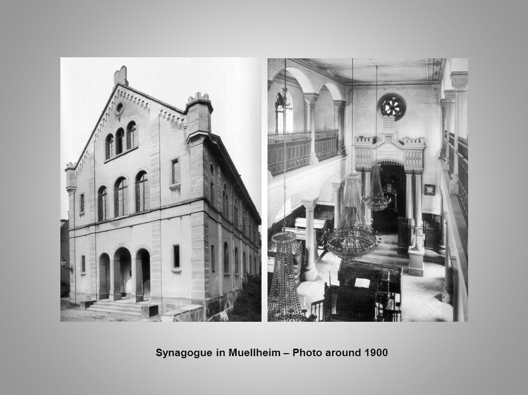 Synagogue in Muellheim – Photo around 1900