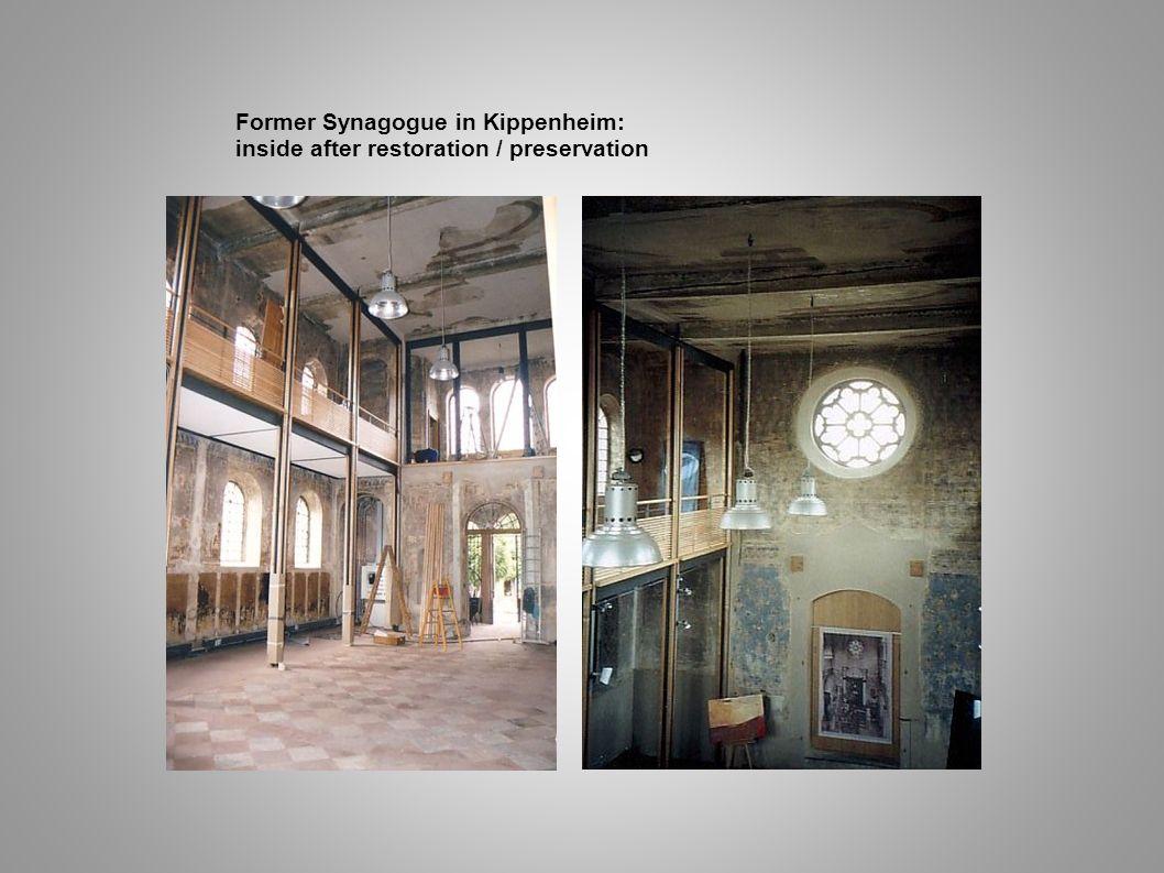 Former Synagogue in Kippenheim: inside after restoration / preservation
