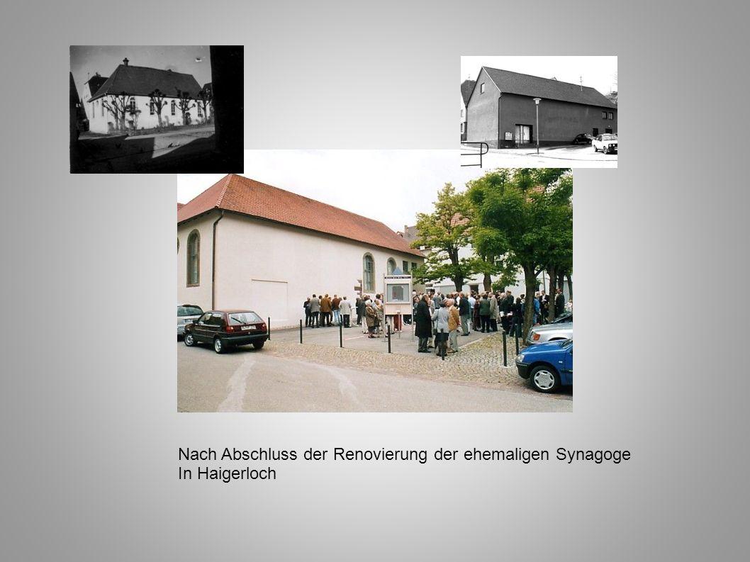 Nach Abschluss der Renovierung der ehemaligen Synagoge In Haigerloch
