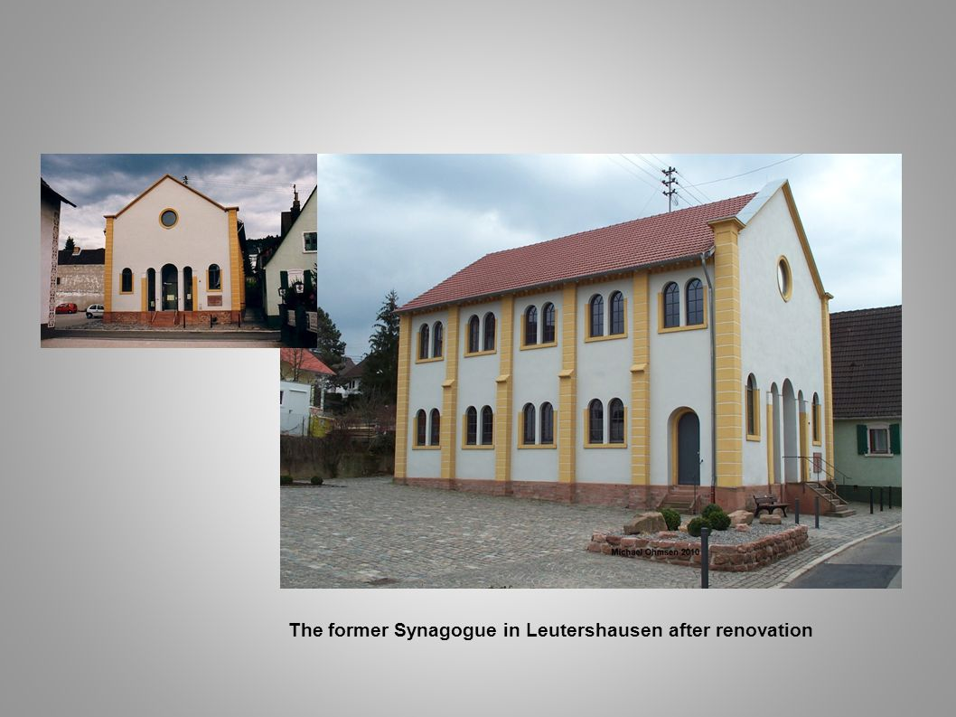 The former Synagogue in Leutershausen after renovation