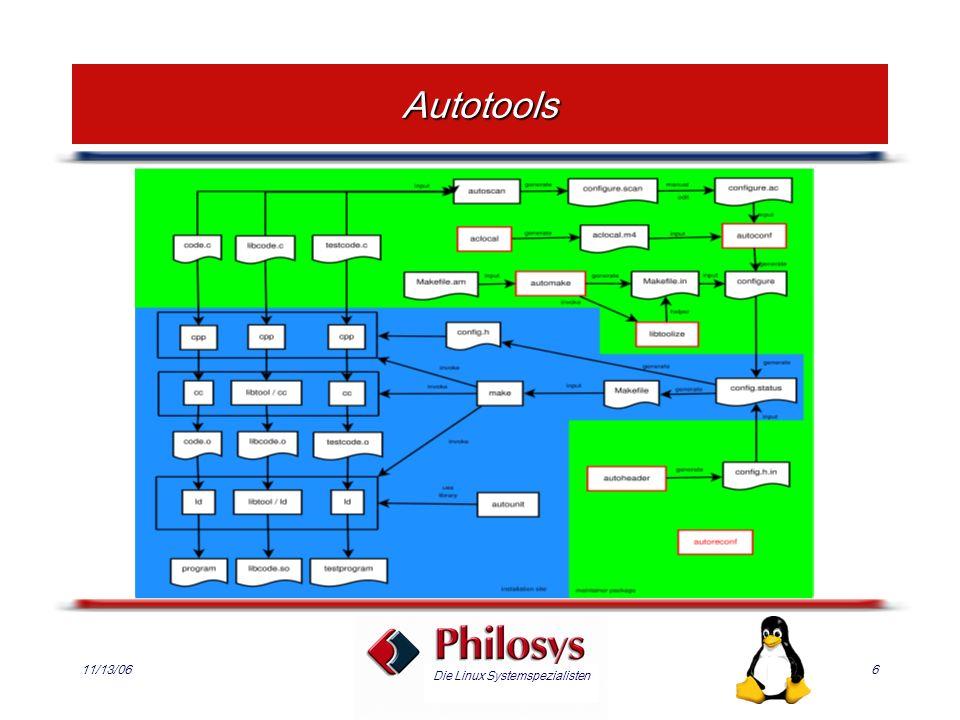 Die Linux Systemspezialisten 11/13/066 Autotools