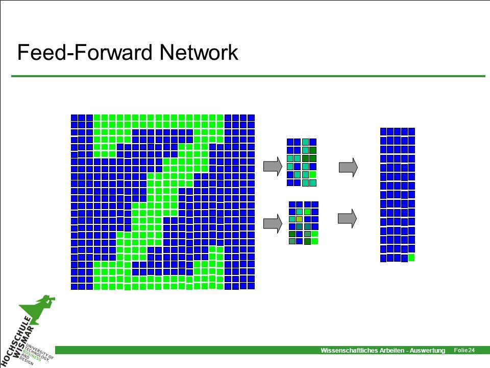 Wissenschaftliches Arbeiten - Auswertung Folie 24 Feed-Forward Network