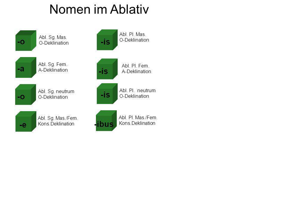 Nomen im Ablativ Abl. Sg. Mas. O-Deklination Abl.