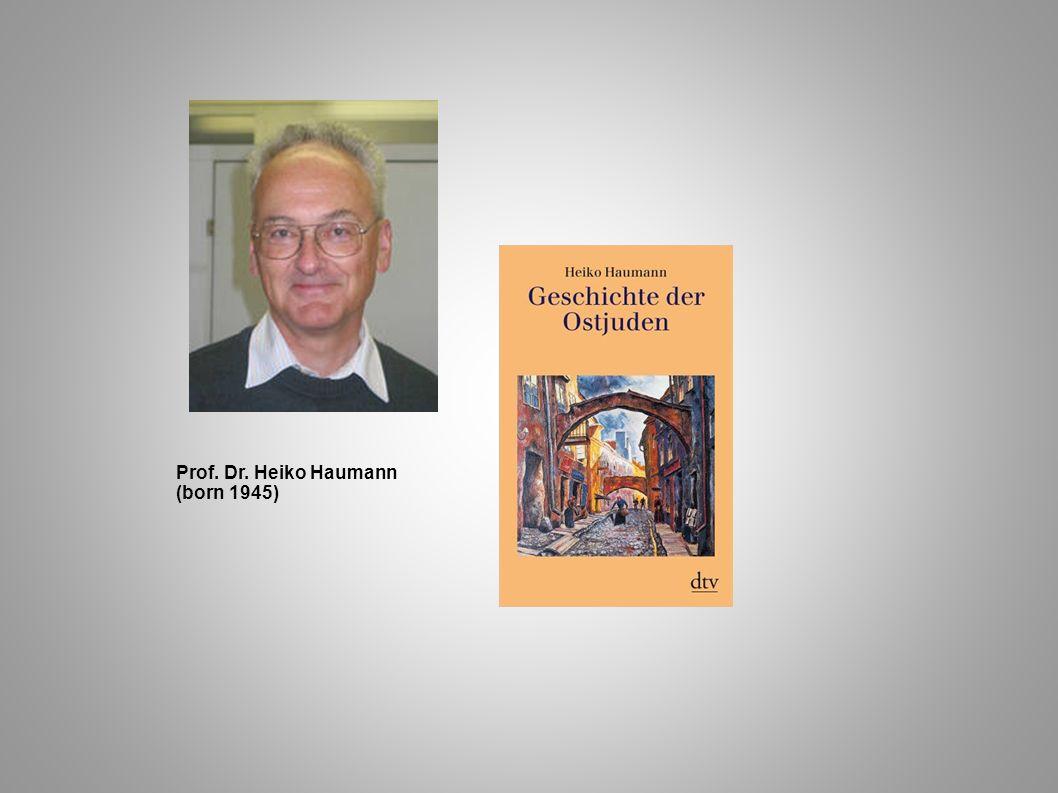 Prof. Dr. Heiko Haumann (born 1945)