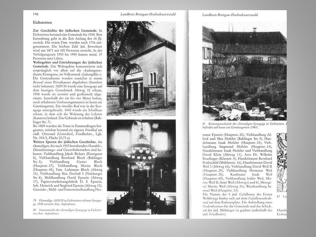 Plans of Jewish Cemeteries in: Hahn, Erinnerungen und Zeugnisse… (1988)