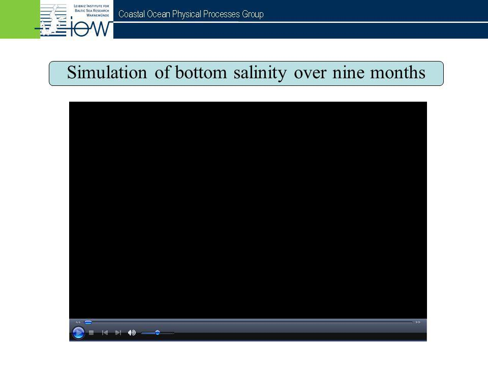 QuantAS - Off Simulation of bottom salinity over nine months