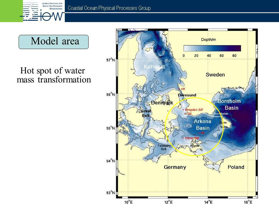 QuantAS - Off Model area Hot spot of water mass transformation