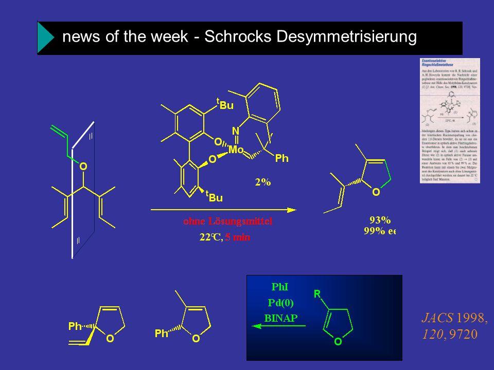 news of the week - Schrocks Desymmetrisierung JACS 1998, 120, 9720