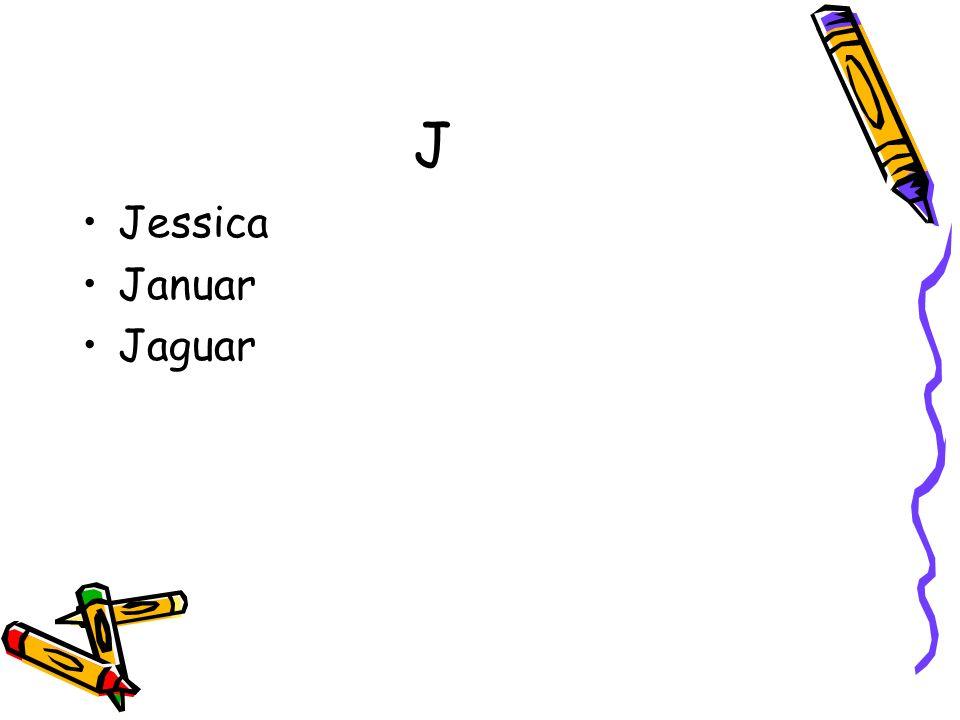 J Jessica Januar Jaguar