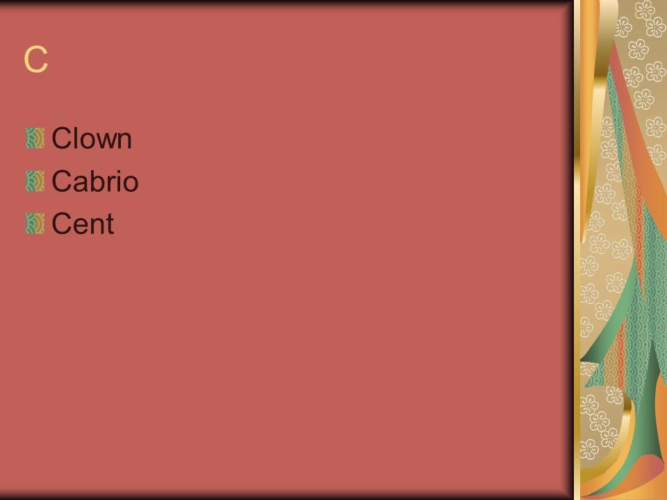C Clown Cabrio Cent