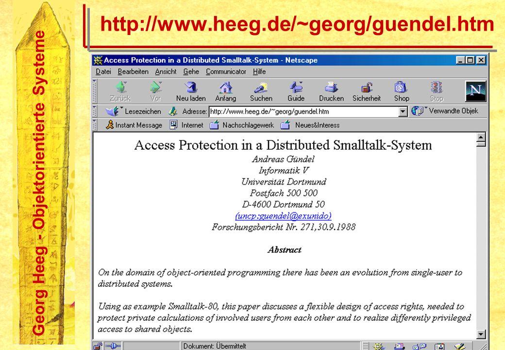 Georg Heeg - Objektorientierte Systeme http://www.heeg.de/~georg/guendel.htm