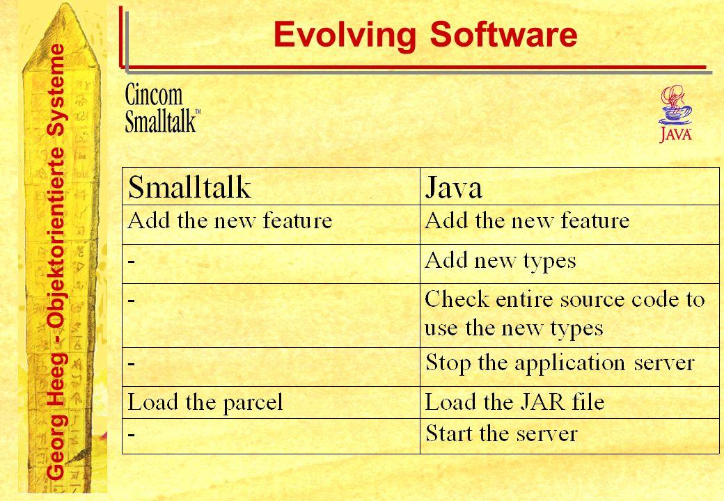 Georg Heeg - Objektorientierte Systeme Evolving Software