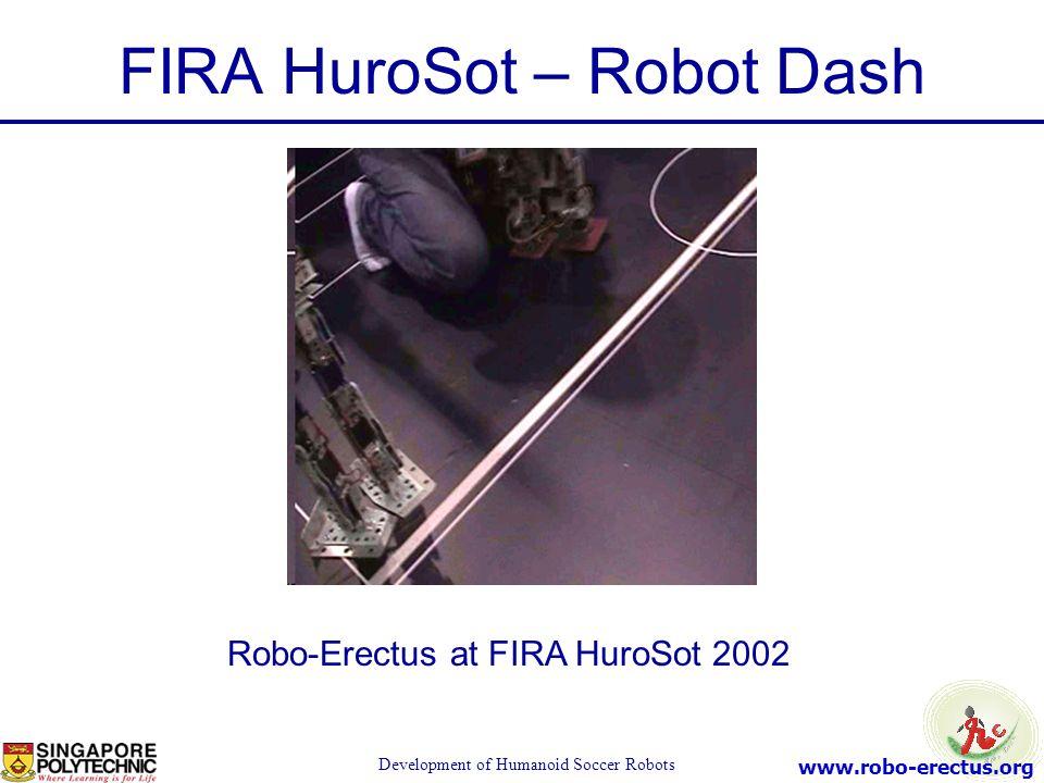www.robo-erectus.org Development of Humanoid Soccer Robots FIRA HuroSot – Robot Dash Robo-Erectus at FIRA HuroSot 2002