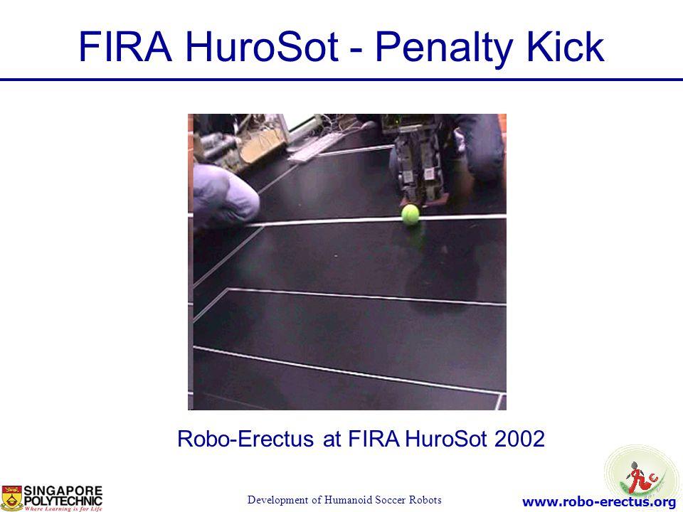www.robo-erectus.org Development of Humanoid Soccer Robots FIRA HuroSot - Penalty Kick Robo-Erectus at FIRA HuroSot 2002