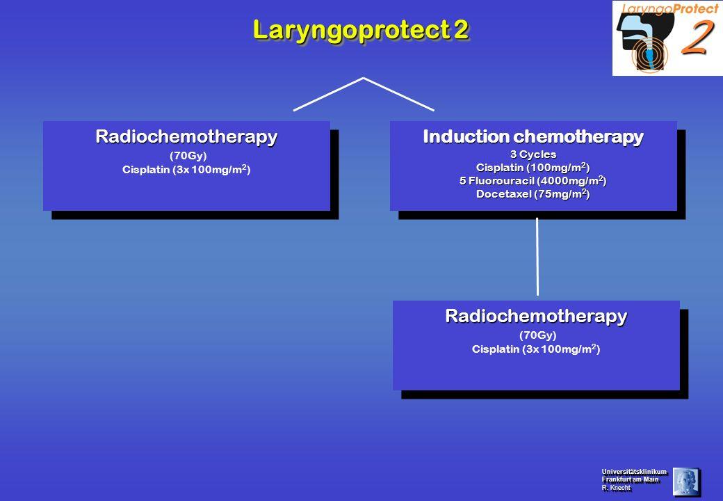 Universitätsklinikum Frankfurt am Main R. Knecht Universitätsklinikum Frankfurt am Main R. Knecht Laryngoprotect 2 Radiochemotherapy (70Gy) Cisplatin