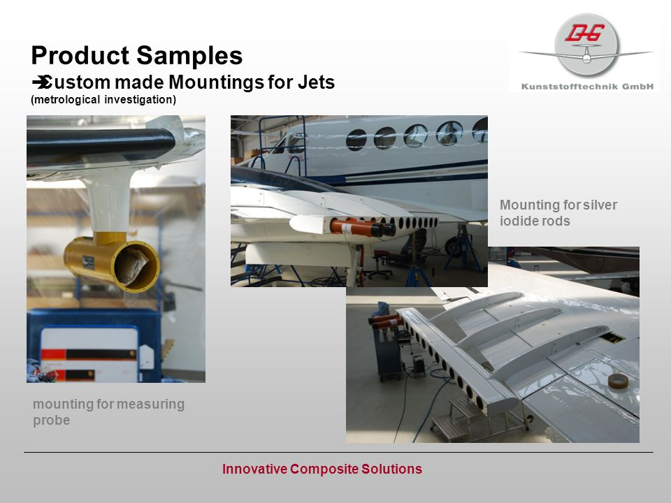 Product Samples Custom made Mountings for Jets (metrological investigation) Innovative Composite Solutions mounting for measuring probe Mounting for s