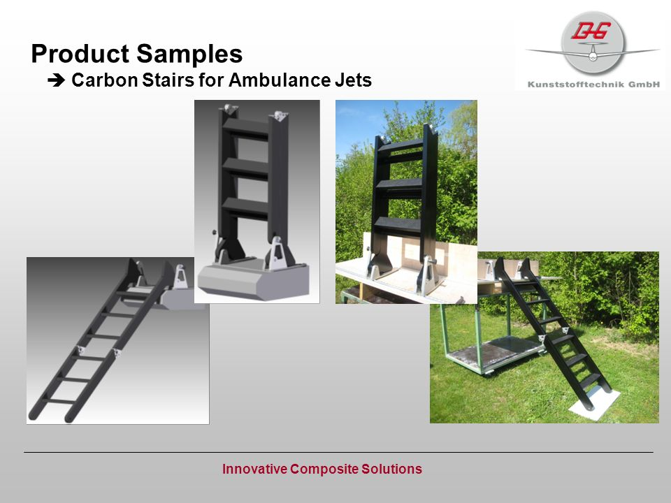 Product Samples Carbon Stairs for Ambulance Jets Innovative Composite Solutions