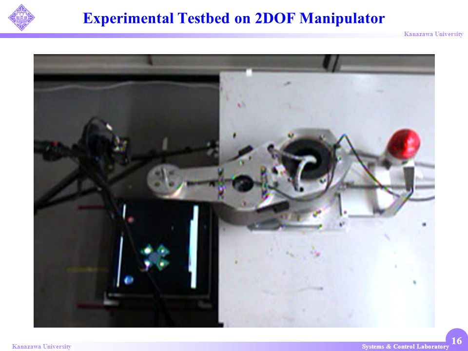 Systems & Control LaboratoryKanazawa University 16 Experimental Testbed on 2DOF Manipulator
