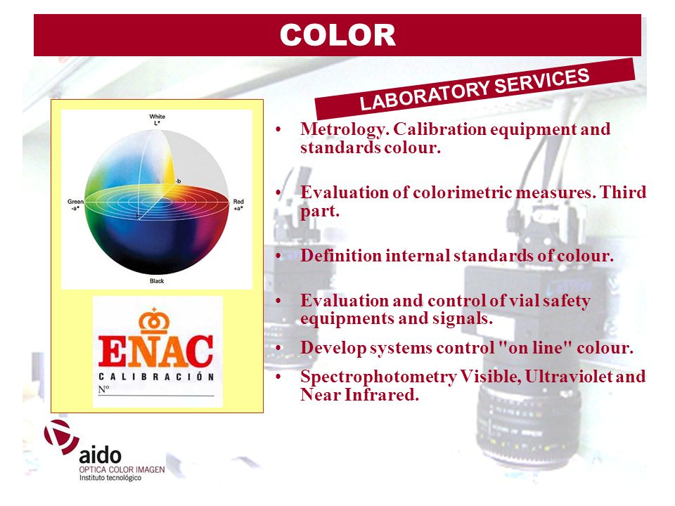 Metrology. Calibration equipment and standards colour. Evaluation of colorimetric measures. Third part. Definition internal standards of colour. Evalu