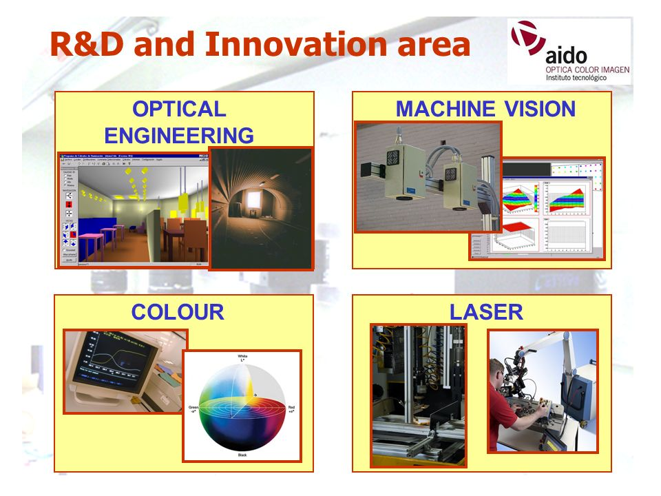 OPTICAL ENGINEERING MACHINE VISION R&D and Innovation area COLOURLASER