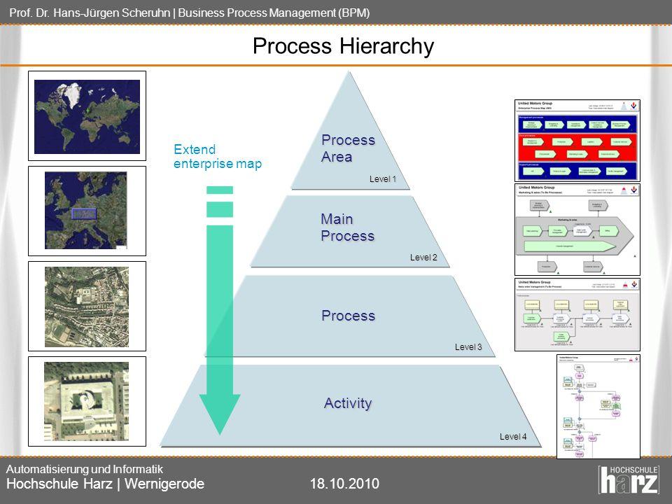 Prof. Dr. Hans-Jürgen Scheruhn | Business Process Management (BPM) Automatisierung und Informatik Hochschule Harz | Wernigerode18.10.2010 Process Hier