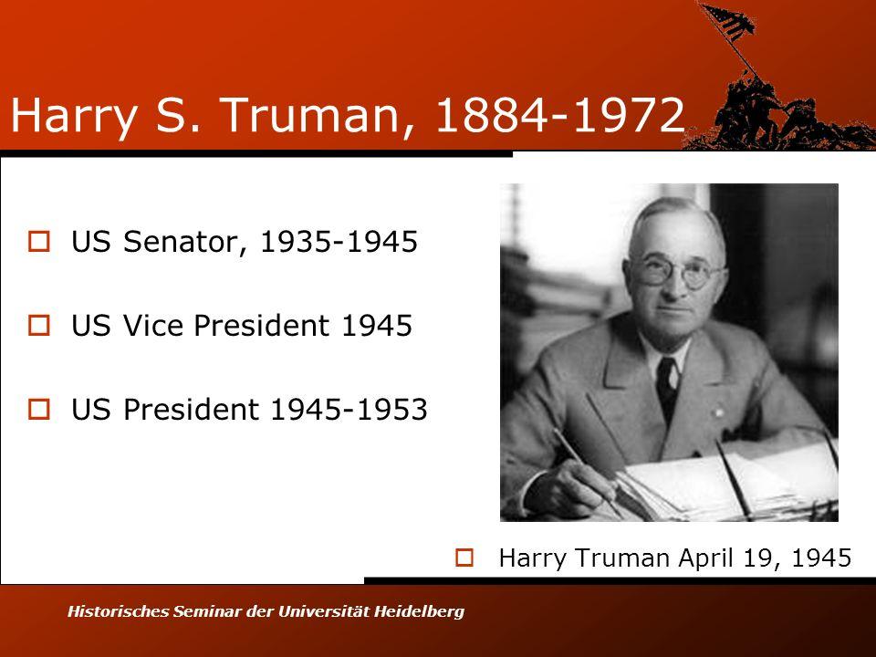 Historisches Seminar der Universität Heidelberg Harry S.