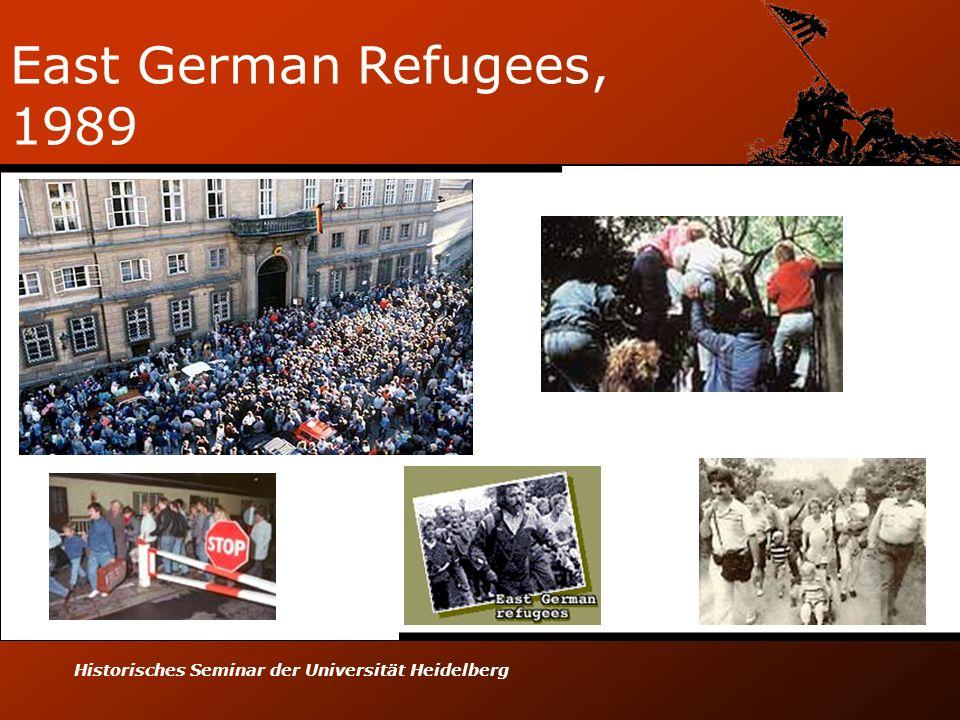 Historisches Seminar der Universität Heidelberg East German Refugees, 1989
