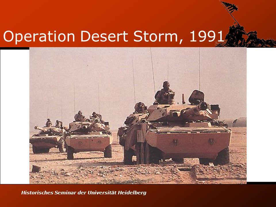 Historisches Seminar der Universität Heidelberg Operation Desert Storm, 1991