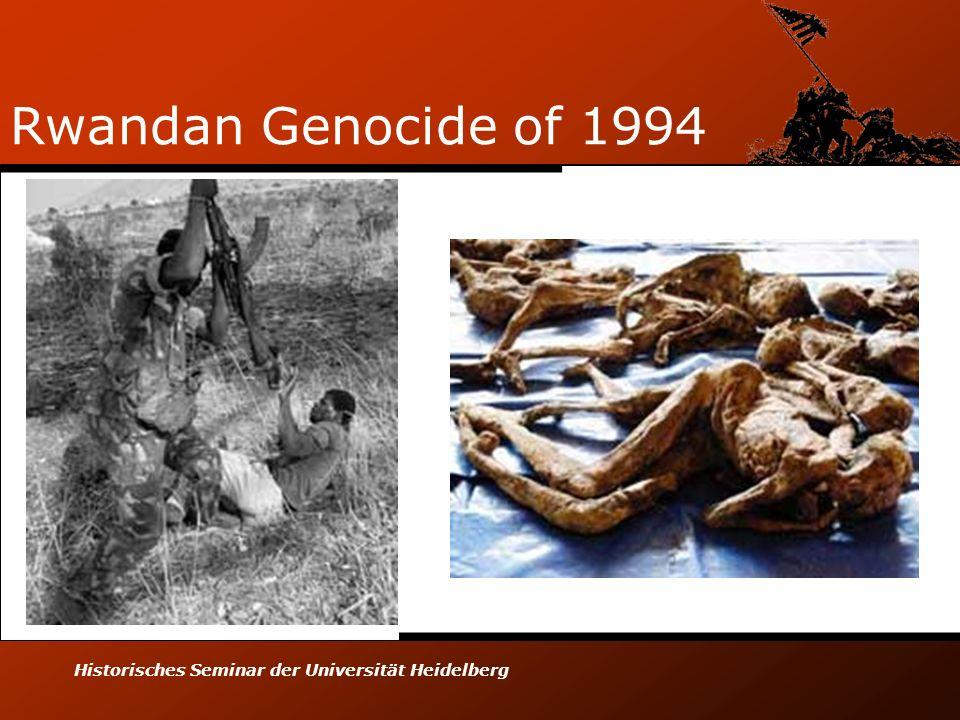 Historisches Seminar der Universität Heidelberg Rwandan Genocide of 1994